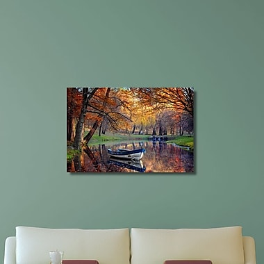 Loon Peak 'Downtrodden Boat in the Park' Photographic Print on Canvas; 20'' H x 30'' W x 0.7'' D