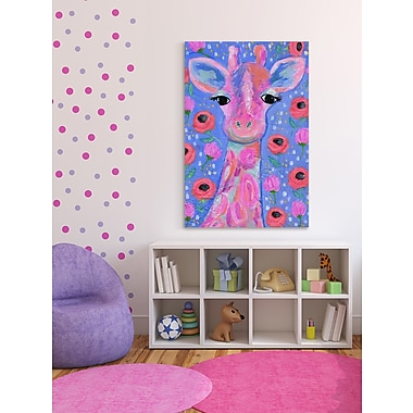 Latitude Run 'Lily the Giraffe' Painting Print on Wrapped Canvas; 45'' H x 30'' W x 1.5'' D