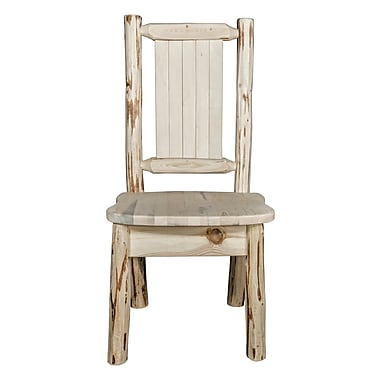 Loon Peak Abordale Natural/Unfinished Solid Wood Dining Chair; Clear Lacquer