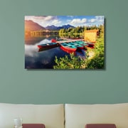 Loon Peak 'Paddle on the Pond' Photographic Print on Canvas; 30'' H x 45'' W x 1.25'' D