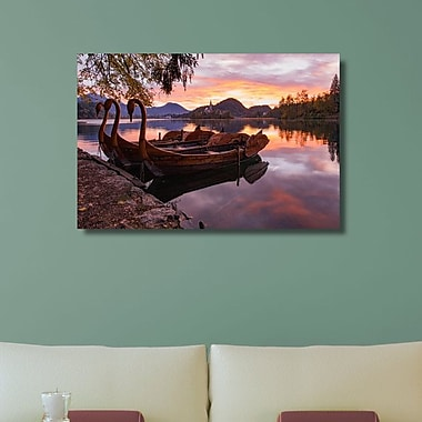 Loon Peak 'Anchored Swan Boats' Photographic Print on Canvas; 30'' H x 45'' W x 1.25'' D