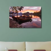 Loon Peak 'Anchored Swan Boats' Photographic Print on Canvas; 16'' H x 20'' W x 0.7'' D