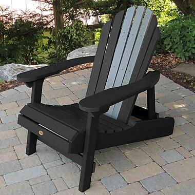 Longshore Tides Deerpark Coastal Adirondack Chair; Black/Coastal Teak