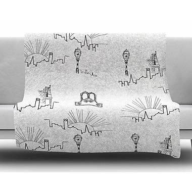 East Urban Home 'Neighborhood' By Stephanie Vaeth Fleece Blanket; 60'' L x 50'' W x .25'' D