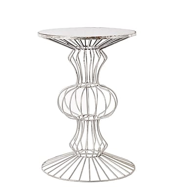 Everly Quinn Albritton Iron Wire End Table;