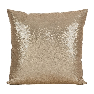 Willa Arlo Interiors Pari Glam Sequin Throw Pillow; Champagne