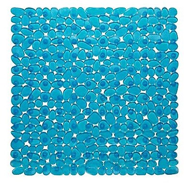 George Oliver Conesville Stall Pebbles Vinyl Shower Mat; Slate