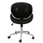 George Oliver Boylston Swivel Mid-Back Drafting Chair; Black
