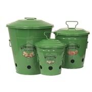 Gracie Oaks Allamuchy Enameled Kitchen 3-Container Food Storage Set; Sage