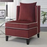 Ivy Bronx Landen Accent Chair; Red