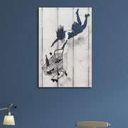 Ivy Bronx 'Shop Til You Drop' Graphic Art Print on Brushed Aluminum; 14'' H x 11'' W x 1'' D