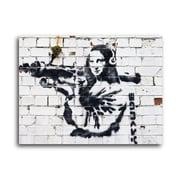 Ivy Bronx 'Mona Lisa w/ Bazooka' Graphic Art Print on Brushed Aluminum; 11'' H x 14'' W x 1'' D