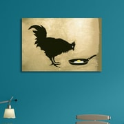 Ivy Bronx 'Fried Egg and Chicken' Graphic Art Print on Brushed Aluminum; 11'' H x 14'' W x 1'' D
