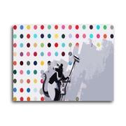 Ivy Bronx 'Hirst Spots Rat' Graphic Art Print on Brushed Aluminum; 11'' H x 14'' W x 1'' D