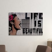 Ivy Bronx 'Life Is Beautiful' Graphic Art Print on Brushed Aluminum; 16'' H x 20'' W x 1'' D