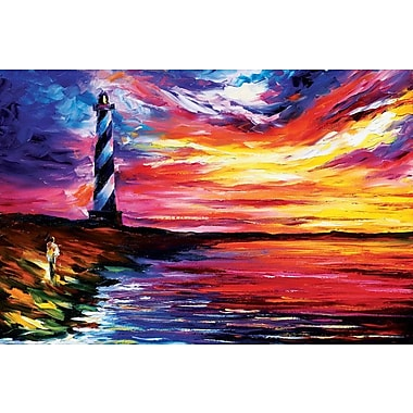 Winston Porter 'Lighthouse' Painting Print on Wrapped Canvas; 18'' H x 26'' W x 1.5'' D
