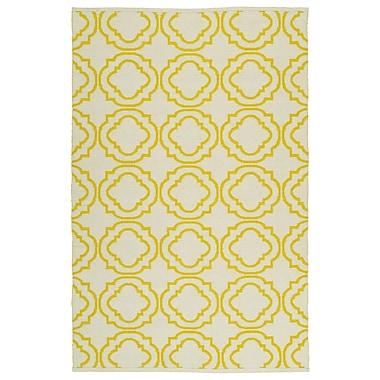 Winston Porter Tyesha Cream & Yellow Indoor/Outdoor Area Rug; 3' x 5'