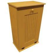 Rebrilliant Manual Wooden 7 Gallon Pull Out Trash Can in Small; Old Gold