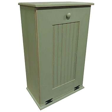 Rebrilliant Manual Wooden 10.25 Gallon Pull Out Trash Can in Large; Old Sage