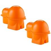 Rebrilliant Egg To-Go Bento Box Specialty Food Storage (Set of 2); Orange
