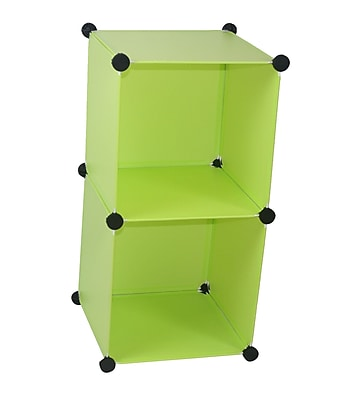 Rebrilliant Magic Shelving and Storage Cube (Set of 6); Green