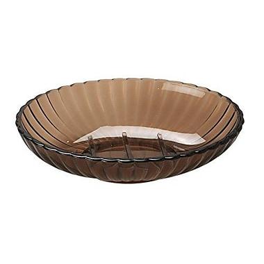 Rebrilliant Rib-Textured Soap Dish; Brown