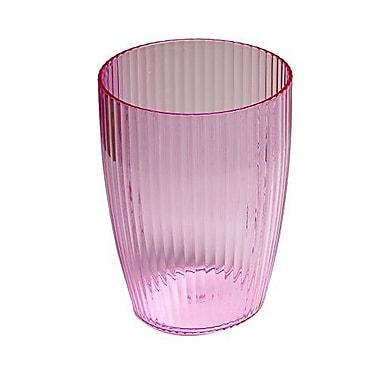 Rebrilliant Rib-Textured Waste Basket; Pink
