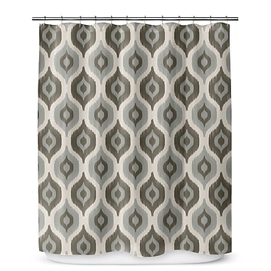 George Oliver Underhill Shower Curtain; Gray