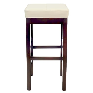 Red Barrel Studio Kimberling 31'' Wood Bar Stool; Beige