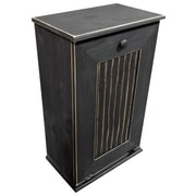 Rebrilliant Manual Wooden 7 Gallon Pull Out Trash Can in Small; Old Black