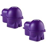 Rebrilliant Egg To-Go Bento Box Specialty Food Storage (Set of 2); Purple