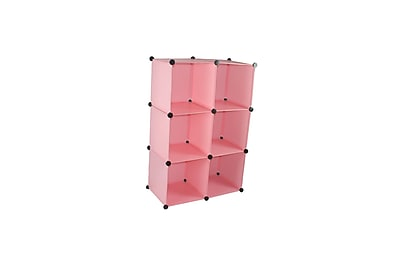 Rebrilliant Magic Shelving and Storage Cube (Set of 6); Pink