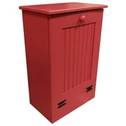 Rebrilliant Manual Wooden 10.25 Gallon Pull Out Trash Can in Large; Red
