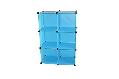 Rebrilliant Magic Shelving and Storage Cube (Set of 6); Blue