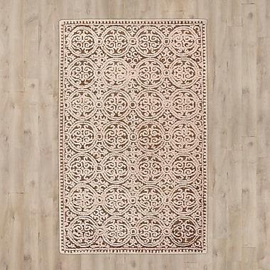 Ophelia & Co. Sibanye Hand-Tufted Tan Area Rug; 6' x 9'