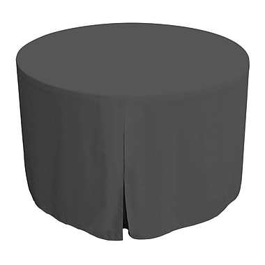Tablevogue 60'' W Fitted Round Tablecover; Charcoal