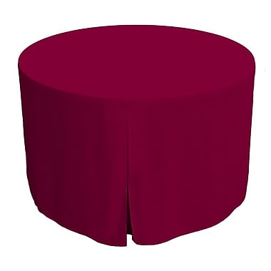 Tablevogue 48'' W Fitted Round Tablecover; Garnet