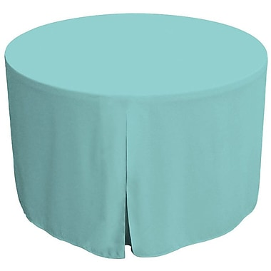 Tablevogue 72'' W Fitted Round Tablecover; Turquoise