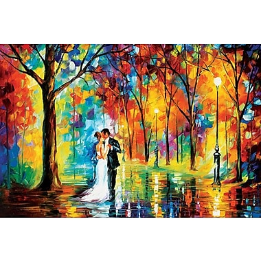 Winston Porter 'Rainy Wedding' Painting Print on Wrapped Canvas; 26'' H x 40'' W x 0.75'' D