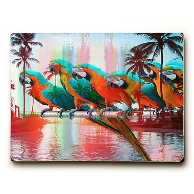 Bayou Breeze 'Paradisio' Graphic Art Print on Wood