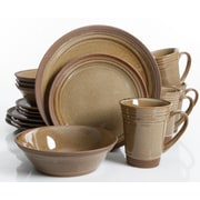Charlton Home Budron 16 Piece Dinnerware Set; Amber