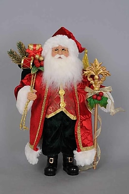 The Holiday Aisle Christmas Santa Figurine WYF078280589345