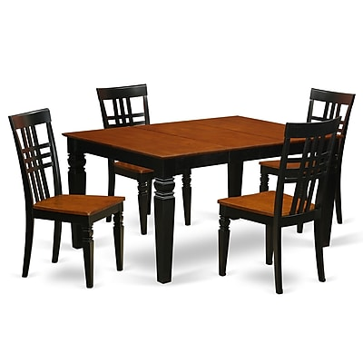 Darby Home Co Beeson 5 Piece Dining Set; Black/Cherry