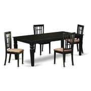 Darby Home Co Beesley 5 Piece Rectangular HardWood Dining Set; Black