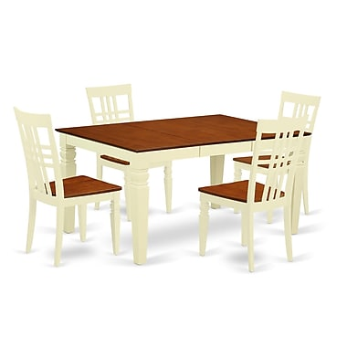 Darby Home Co Beeson 5 Piece Dining Set; Buttermilk/Cherry