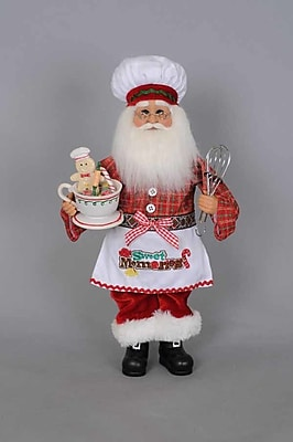 The Holiday Aisle Christmas Kitchen Santa Figurine WYF078280589347