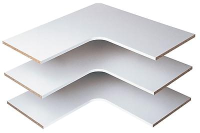 Easy Track Corner Shelf (Set of 3); White