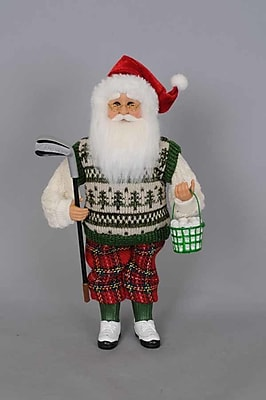The Holiday Aisle Christmas Golf Santa Figurine WYF078280589348