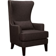 Alcott Hill Cavender Wingback Chair; Charcoal