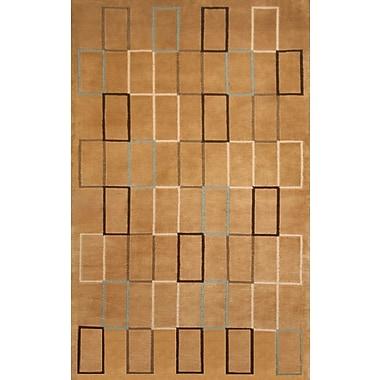 Brayden Studio Tawney Hand-Knotted Brown/Beige Area Rug